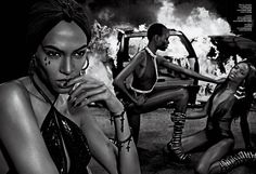 Fight Fire With Fire | V Magazine #94 Spring 2015 | Joan Smalls, Maria Borges + More by Steven Klein #fashioneditorials