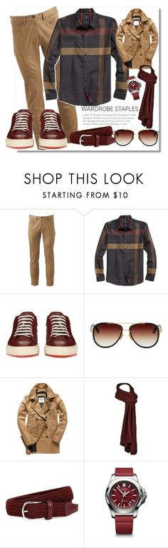 """wardrobestaples"" by marionmeyer ❤ liked on Polyvore featuring Dockers, GUESS, Paul Smith, Dita, Superdry, J.W. Anderson, Victorinox Swiss Army, men's fashion, menswear and plaid"