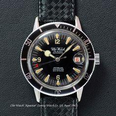 Cler Watch 'Aquastar' (Serexa Watch Co. SA, Basel 1963) 20ATM Diver - ETA 2452 #ClerWatch #Diver #aquastar
