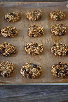 Healthy Gluten Free Flourless Oatmeal Chocolate Chip Cookies