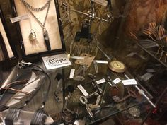 The Crypta collection at its temporary home in @kikuboutique! It's still there today if you want to take a look. #fashion #oring #choker #jewellery #necklace #earring #crystal #black #gothic #alternative #altfashion #darkfashion #womensfashion #crystals #quartz #copper #electroformed #electroplated #blackcopper #key #antique #vintage