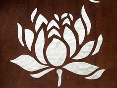 Love this traditional lotus image -- very old fashioned Letter Stencils, Stencil Templates, Stencil Patterns, Stencil Art, Stencil Designs, Embroidery Patterns, Japanese Paper, Vintage Japanese, Lotus Image