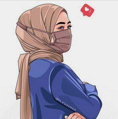 Cartoon Girl Images, Cartoon Girl Drawing, Girl Cartoon, Cartoon Art, Whatsapp Dp, Muslim Images, Hijab Drawing, Islamic Cartoon, Hijab Cartoon