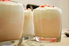 White Chocolate Mousse with Candy Canes
