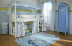 Le lit baldaquin enfant – comment faire la déco pour la chambre - lit-baldaquin-enfant-garçon