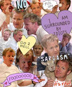 "The ""Many Faces of Ramsey"". 33 Things Only Chef Gordon Ramsay Can Get Away With Chef Gordon Ramsey, Gordon Ramsay, English Jokes, Really Funny, My Idol, I Laughed, Laughter, Haha, Have Fun"