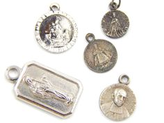 Vintage Catholic Medal Lot Jesus of Prague - Virgin Mary - Marie Mutien - Medjugorje - Religious Charms - Q99 by LuxMeaChristus on Etsy