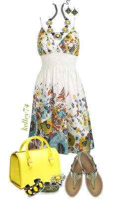 """""""Yellow Accessories"""" by kelley74 ❤ liked on Polyvore"""