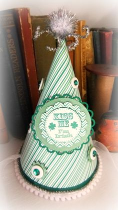Creative Converting Kiss Me Im Irish Tiara with Marabou Green