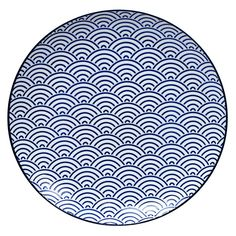 Buy the Nippon Black Dinner Plate - Wave from Tokyo Design Studio at AMARA. Blue Dinner Plates, White Plates, Blue Plates, Design Studio, Assiette Design, Pink Rims, Large Waves, Tokyo Design
