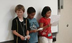 Great  readers theater scripts to use....also tells you the number of parts before you open.