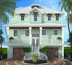 Stylish Beach House Plan - 86008BW | 2nd Floor Master Suite, Beach, Bonus Room, CAD Available, Den-Office-Library-Study, Drive Under Garage, Elevator, Florida, Media-Game-Home Theater, Narrow Lot, PDF, Southern | Architectural Designs