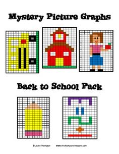 ... mystery picture graphs back to school pack this is a set of 5 mystery