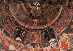 Manastirea Hurezi - Horezu Maronite Church, Romania, Egypt, Catholic, Greece, Christian, Painting, Icons, Interior
