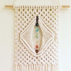 macrame wall hanging 'Opening the Chakras' boho by HeartAndHands2