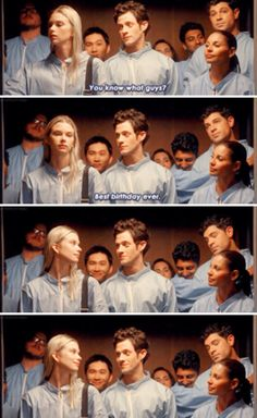 Stitchers. What is Linus doing in the background? Lol