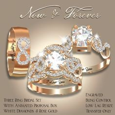 Exquisite Now & Forever Bridal Set Rose Gold