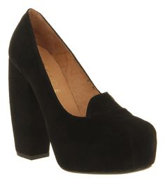 Office - SLIPPER - black suede