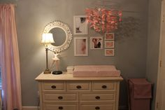 Baby girl room. Love these colors!