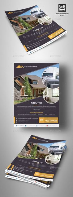 Real Estate Flyer - Corporate Flyers,#Real Estate #Flyer Download here: https://graphicriver.net/item/real-estate-flyer/20419942?ref=suz_562geid
