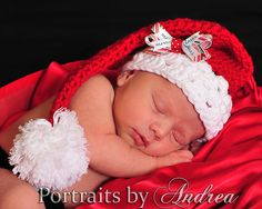 beautiful baby girl Christmas Stocking Hat