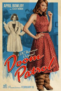 Elasti-Woman (póster de Doom Patrol)