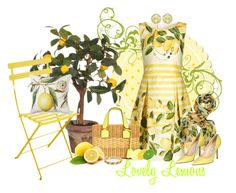 """Lovely Lemons"" by kathleensmith-i ❤ liked on Polyvore featuring Fermob, Williams-Sonoma, Kiki mcdonough, Mark Cross, David Yurman, Apples, Dorothy Perkins and Jimmy Choo"