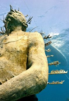 Man on Fire - Underwater Sculpture by Jason deCaires Taylor