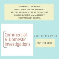 Commercial Debt Recovery has been collecting commercial debt for 30 years and is probably the most effective commercial collection agency in the UK.Our team have the experience and knowledge to help your company recover money owed. Working with the Commercial Domestic Investigations debt collection team gives business owners the peace of mind needed to move forward and get past negative cash flow.