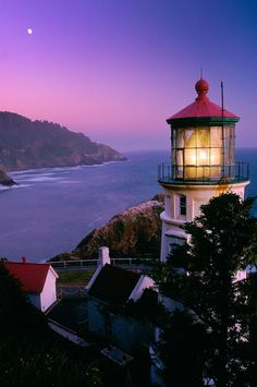 Heceta Head Lighthouse - Oregon  One of the most iconic lighthouses in the United States  Also, the bed and breakfast in the old lightkeeper's house is pretty cool (didn't stay there but got to play the neat old piano).