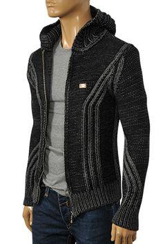 DOLCE & GABBANA Men's Knitted Hooded Jacket #382 FBD $159.99US - http://www.fashionbrandsdiscounts.com/jackets/dolce-gabbana-mens-knitted-hooded-jacket-382-fbd