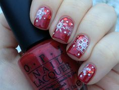 Snowflakes on nails