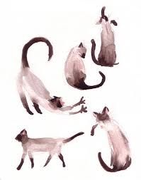 Resultado de imagen para watercolor cat