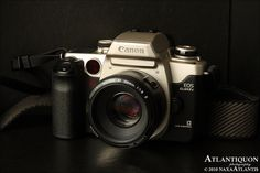 The SLR I learned to shoot with.  Canon EOS Elan II (This is an Elan IIe, which is basically the same thing...)