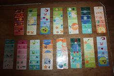 Bookmarks with paint chips, grade 3