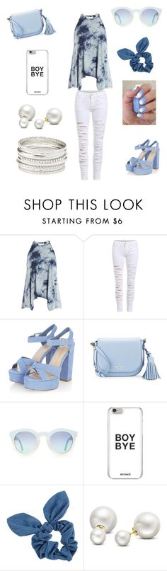 """Outfit for a cutie"" by oliviaonfleek on Polyvore featuring Sans Souci, Kate Spade, Dorothy Perkins, Allurez and Charlotte Russe"