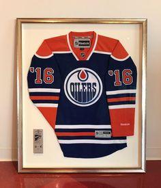 Shadow box with ians jersey for ian pinterest shadow box box oilers hockey jersey custom framed solutioingenieria Gallery