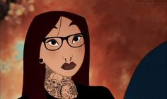 I can't get enough of these alternative Disney punk princesses!