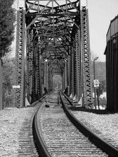 Train tracks in Augusta, Georgia