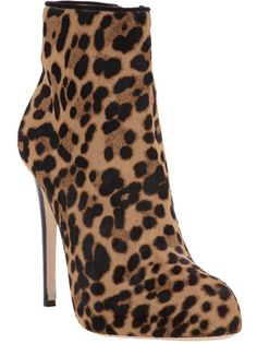 DUCCIO VENTURI Leopard Print Ankle Boot