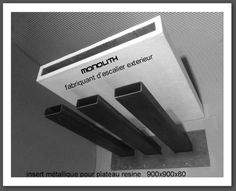 Marche en resine monolith pour escalier exterieur kit for Escalier exterieur kit