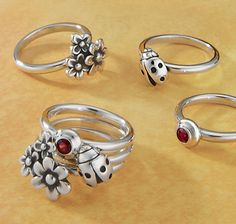 Make it Yours - Stacking rings can be a fun way to create ring combinations that are individually yours. #jamesavery #jewelry