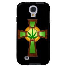 Medical marijuana cross samsung case