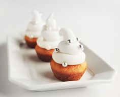 Tried this recipe for Superbowl. But made it dairy free/fat free by substituting milk w/ almond milk and butter for apple sauce! Mini Cupcake Recipes, Cake Mix Cookie Recipes, Dessert Cake Recipes, Yummy Cookies, Babycakes Cupcake Maker, Babycakes Recipes, Baby Cakes Maker, Vanilla Cupcakes, Mini Cupcakes