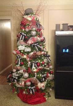 My Roll Tide Christmas Tree