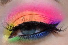 Elektro Cute Neon Eye Look _ Tutorial | xSparkage