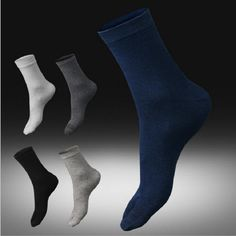 Aliexpress.com   Buy BooLawDee Newest spring and autumn man bussiness toe  sock cotton sweat absorbing antibacterial black white gray navy A66009 from  ... 626249b981c4