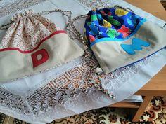Malé batohy pre deti do škôlky,aj do školy s monogramom.