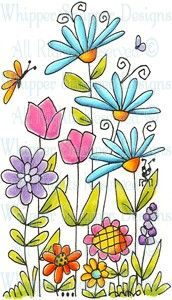My Garden - Whimsical - Floral/Garden - Rubber Stamps