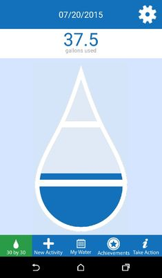 30 X 30 App.  Do your part to save water! Can you reduce your water usage for 30 days by 30 gallons?  Fun app for tracking, sharing your success, and saving water!  Download the app now!